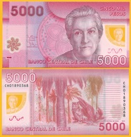Chile 5000 Pesos P-163d 2013 UNC Polymer Banknote - Chile