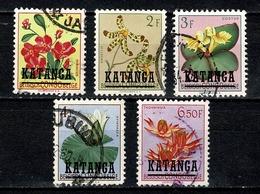 Katanga 1960 OBP/COB 31/34, 36 Gebr. / Used (2 Scans) - Katanga