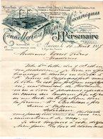 1 Factuur Anvers Tonnellerie Et Scieerie Mecaniques J.Persenaire Futs Pour Brasseries Distilleries Et Vins C1907 Tel.201 - Belgique