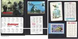 Pocket Calendars -USSR- 1983,1988 - Russia - 2011- Advertising.Helicopter. - Calendars