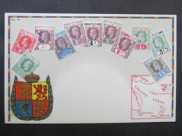 AK FIJI FIDSCHI Stamps Ca.1910 // D*38290 - Fidschi