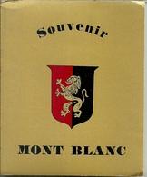 """3574 """" SOUVENIR MONT BLANC-12 VEDUTE A COLORI """" ORIGINALE - Dépliants Turistici"""