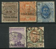 L'Érythrée 1933 Oblitéré 80% 20C, 25C, 50c, 1. Lyra. - Erythrée