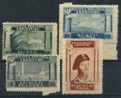 Corps Polonais 1946 Sass. 1-4 Sans Gomme 100% Victoire Polonaise En Italie - 1946-.. République