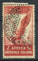 Afrique De L'est Italienne 1938 Sass. 19 Oblitéré 40% 10 Lires - Afrique Orientale Italienne