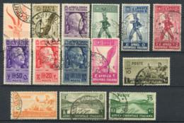 Afrique De L'est Italienne 1938 Oblitéré 100% 2C., 5C., 10C., 20C., 2 L., 1,25 L. - Afrique Orientale Italienne