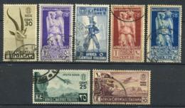 Afrique De L'est Italienne 1938 Oblitéré 40% 25C., 30C., 50c., 1,25 L., 5 L. - Afrique Orientale Italienne