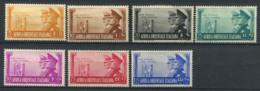Afrique De L'est Italienne 1941 Sass. 34-40 Neuf * 100% Fraternité Italo-allemande Des Armes - Afrique Orientale Italienne