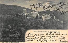 HEIDELBERGER SCHLOSS GERMANY~im MONDSCHEIN-eDM, Von KONIG 1903 PHOTO POSTCARD 40653 - Heidelberg