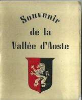 """3576 """" SOUVENIR DE LA VALLEE D'AOSTE-18 VEDUTE A COLORI """" ORIGINALE - Dépliants Turistici"""