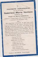 DOODSPRENTJE VANHOVE GODELIEVE DOCHTER VAN PIETER EN VANMAELE VLAMERTINGE (1927 - 1928) - Imágenes Religiosas
