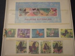 FILIPPINE - 1993 FARFALLE 5+4 VALORI + BF - NUOVI (++) - Philippines