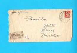 WW2 ... TRIESTE - BARCOLA ... 1943. Registered Letter (Posta Raccomandata) Travelled To Spalato Dalmazia * Italy Italia - Trieste