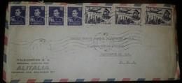 O) 1959 IRAN - MIDDLE EAST - PERSIA, MOHAMMAD REZA SHAH PAHLAVI SCT 1142 1r, PLANE ABOVE MOSQUE -ARCHITECTURE- SCT C72 5 - Iran
