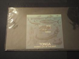 TONGA - BF 1985 FAUNA MARINA - NUOVI (++) - Tonga (1970-...)