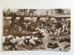 AK Marine Schiffspost S.M.S. Westfalen Stempeln Stamp Klar Zum Schufs Marine - Guerra 1914-18