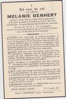 DOODSPRENTJE DENHERT MELANIE PITTEM VLAMERTINGE (1864 - 1941) - Imágenes Religiosas