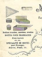 Facture 1930 / 39 BOIS D'AMONT / LAMY-CRETIN / Manufacture Boîtes En Bois /Boîtes Pharmacies, Fromages,beurres,fruits, - France