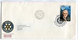 ROTARY INTERNACIONAL. BELIZE 1981, ENVELOPE FDC SOBRE PRIMER DIA - LILHU - Belize (1973-...)