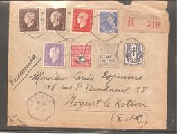 Enveloppe  Oblit  ROUBAIX    RECOM  1945   Dulac/ Mercure/ Arc Triomphe/ Chaine - Sin Clasificación