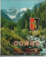 "3583 ""COGNE-PARCO NAZIONALE DEL GRAN PARADISO-10 VEDUTE A COLORI (8+2)"" ORIGINALE - Dépliants Turistici"