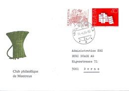 """Motiv Brief  """"Club Philatélique De Montreux""""  (Winzerkorb)        1984 - Suisse"""