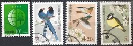 CHINA PRC 2002-2004 Forrest Conservation & Fauna - Birds Postally Used MICHEL# 3317,3324,3325,3508 - 1949 - ... République Populaire