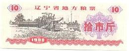 China (CUPONES) 10 Kilos 1980 Liaoning Cn 21 2010000 UNC - China