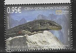 MONTENEGRO, 2019, MNH, LIZARDS, MOUNTAINS, 1v - Reptiles & Batraciens