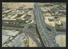 Saudi Arabia Picture Postcard King Abdulaziz Road & King Fahd Road Intersection Riyadh View Card - Saudi Arabia