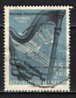 AUSTRIA - 1959 - TOURNEE DELL'ORCHESTRA FILARMONICA DI VIENNA - USATO - 1945-60 Oblitérés