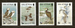 Man 1989  Yvertnr. 408-11 ** * MNH Cote 5 Euro Faune Vogels Oiseaux Birds WWF - Man (Ile De)