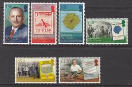 2008 Tristan Da Cunha Allan Crawford Writer Stamp On Stamps Maps Complete Set Of 6  MNH - Tristan Da Cunha