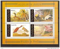 Tanzanie Tanzania 1986 Yvertn° Bloc 45 *** MNH  Cote 65 FF Faune Oiseaux Vogels Birds Audubon - Tanzanie (1964-...)