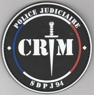 Écusson Police - Brigade Criminelle SDPJ 94 - Police & Gendarmerie