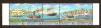 Nations Unies 1997 Yvertn° 728-32 *** MNH Cote 7,00 Euro Bateaux Boten Ships - Neufs