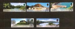 Jersey 2007 Yvertn° 1367-1371 (°) Used Cote 9,25 Euro Hoge Waarde Ontbreekt, Haute Valeur Manque - Jersey