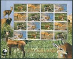 Swaziland 2001 WWF Naturschutz Antilopen 702/05 ZD-Bogen Postfrisch (SG23565) - Swaziland (1968-...)