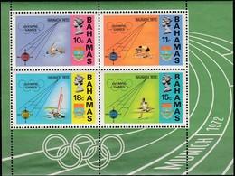 1972 MÜNCHEN - Bahamas MiNr: 340-343  Block 5  **/MNH - Sommer 1972: München