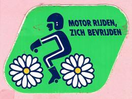 Sticker - MOTOR RIJDEN,ZICH BEVRIJDEN - Autocollants