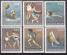 1972 MÜNCHEN - Jugoslawien  MiNr: 1451-1456  Komplett  **/MNH - Sommer 1972: München