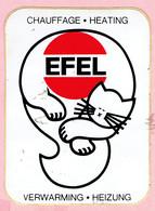 Sticker - CHAUFFAGE HEATING - EFEL - VERWARMING HEIZUNG - Autocollants