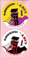 Sticker - MIJNWERKERSCENTRALE - A.B.V.V. - BERINGEN - 2 Stuks - Autocollants
