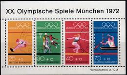 1972 MÜNCHEN - BRD  MiNr: 734-737  Block 8  Used - Sommer 1972: München