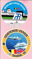 Sticker - Oostende Dover - Sealink + Oostende Folkestone - Autocollants