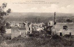 Villesavoye (Ville Savoye) - Le Vieux Château , L ' église Et Coin De Village , Après La Retraite Des Allemands (1918) - France