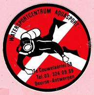 Sticker - Watersportcentrum AQUASPORT - Te Couwelaarlei 58 Deurne Antwerpen - Autocollants