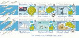 2007 Tristan Da Cunha Maps Whales Birds Flags Souvenir Sheet MNH - Tristan Da Cunha