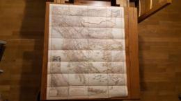 RARE CARTE GEOGRAPHIQUE DES BALKANS 1890  ANDRIVEAU GOUJON RUE DU BAC ENTOILEE FORMAT 86 X 72 CM PARFAIT ETAT 10 SCANS - Geographical Maps