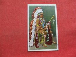 Osage Indian In Full Dress Oklahoma        Ref 3357 - Native Americans